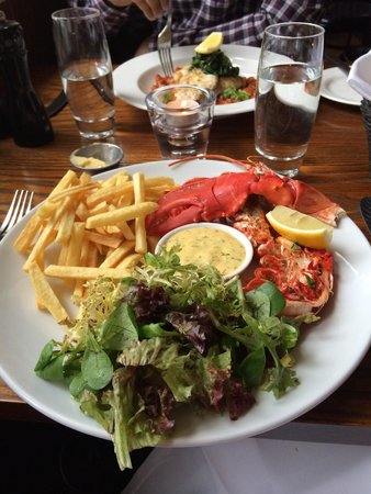 The Shore: Lobster with skinny fries- delicious