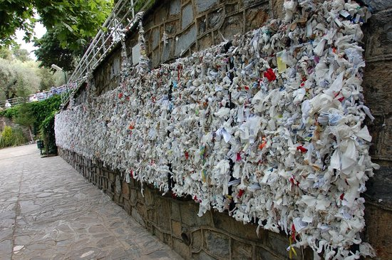Meryemana (The Virgin Mary's House): Wall of messages at the House of Virgine Mary site