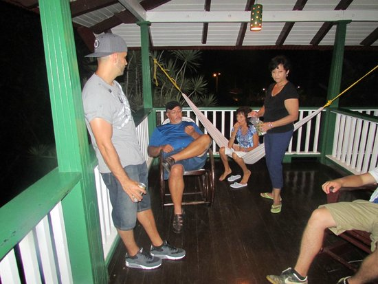 Hacienda Gripinas: just relaxind at one of the balconies with family