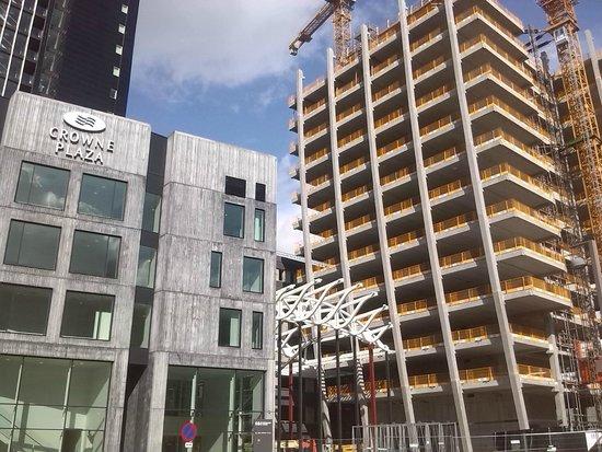 Crowne Plaza Copenhagen Towers: construction is going on next door