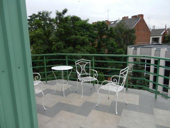 Best Western Santakos Hotel : Балкон в нашем номере