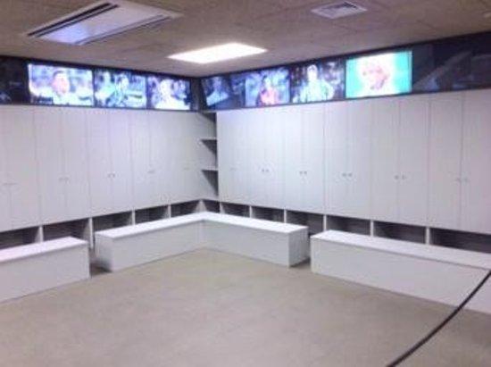 Camp Nou: Locker room area (cordoned off)