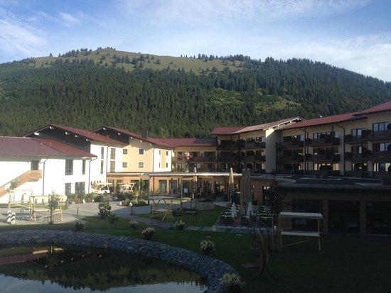 Panoramahotel Oberjoch: Schöne Aussicht, aber leider abends zu laut