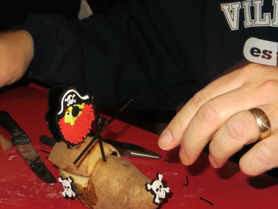 Villa Roma Resort and Conference Center : making our potato race car