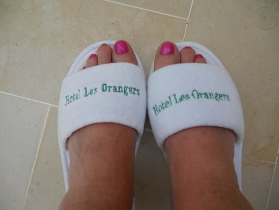 The Orangers Beach Resort & Bungalows: SLIPPERS