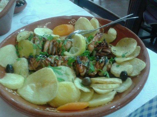 Restaurante A Ceia: Brocheta de chipirones