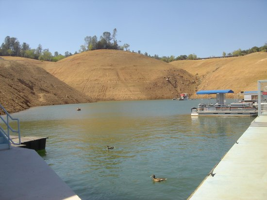 Lake Oroville State Recreation Area : drought on the lake