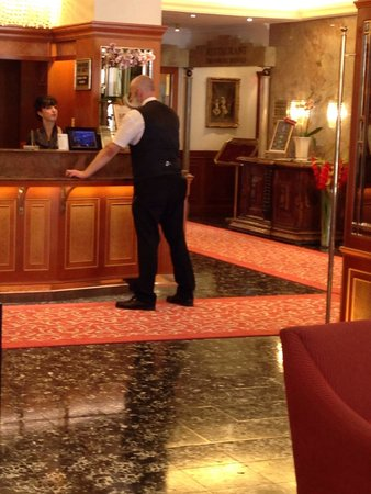 Hotel Stefanie: This nice gentleman with unforgettable mustaches will meet you at the entrance))