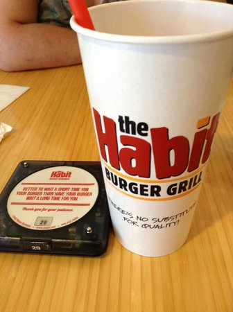 The Habit Burger Grill: The Habit Cup and Pager