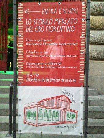 Mercato Centrale: sign