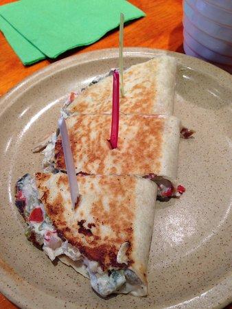 Sisco: Quesadillas de ricotta poivron et aubergine