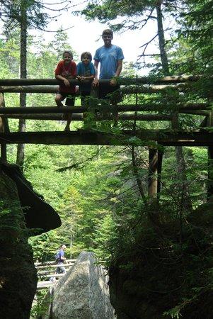 Lost River Gorge and Boulder Caves: Bridge