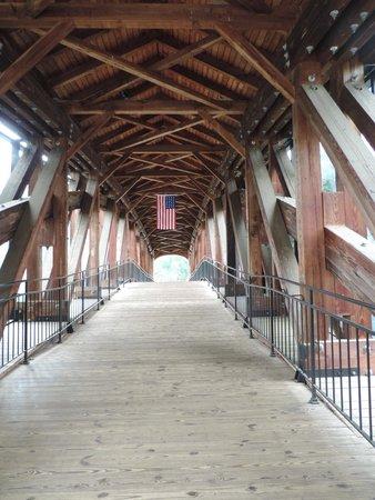 Old Salem Museums & Gardens: The bridge at Old Salem