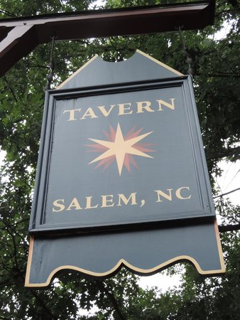 Old Salem Museums & Gardens: The sign outside the tavern