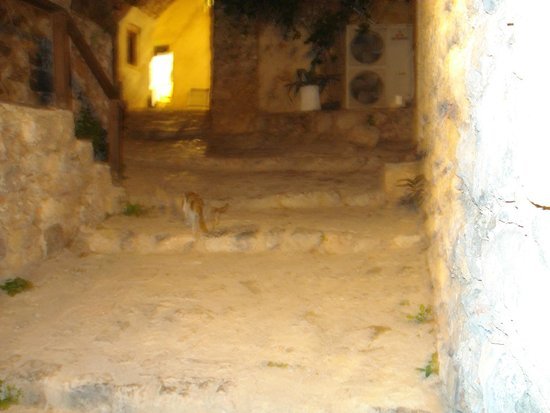 Upper Town of Monemvasia: scenic road inside the Castle