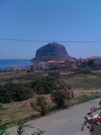Upper Town of Monemvasia: Monemvasia Rock with the castle ...