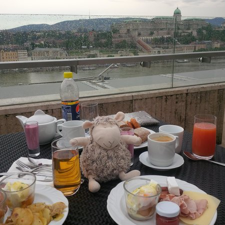 Budapest Marriott Hotel: breakfast in the lounge