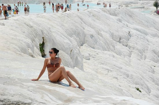 Hierapolis & Pamukkale: Pamukkale Hot Springs