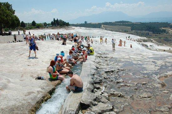 Hierapolis & Pamukkale: Pamukkale Hot Sptings