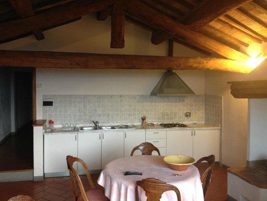 B&B Ponte a Nappo : Kitchen/living room area