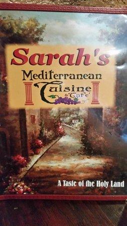 Sarah's Mediterranean Cuisine And Cafe : Menu