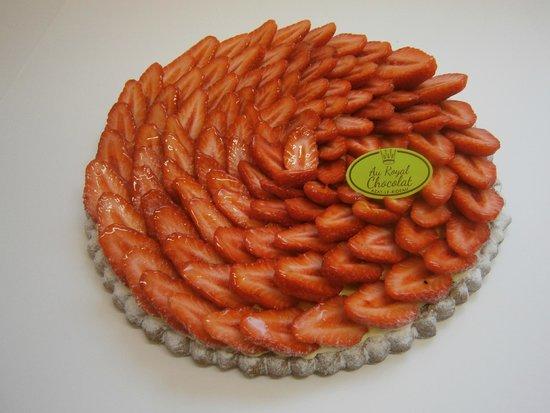 Au Royal Chocolat : tarte aux fraises