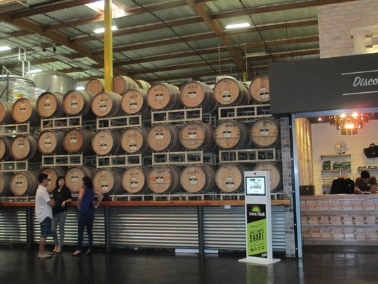 Green Flash Brewing Company: View of the tasting room