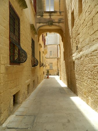 Mdina Old City: A typical side street in the silent city