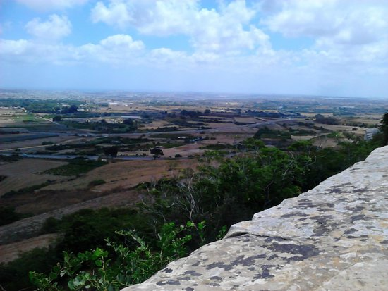 Mdina Old City: Views from the ancient wall of Mdina over the island