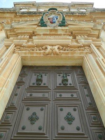 Mdina Old City: Mdina Cathedral doors