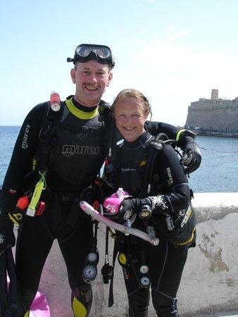 Neptunes Diving Malta: Congratulations from my Husband
