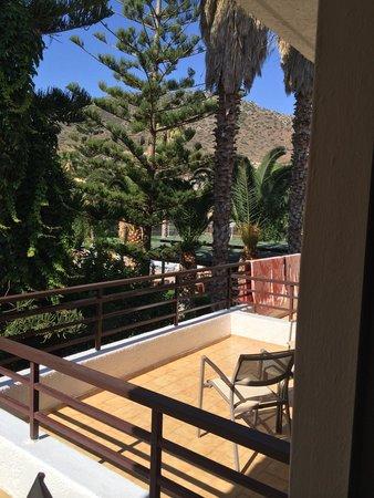 King Minos Palace Hotel : Blick vom Zimmer/Terrasse