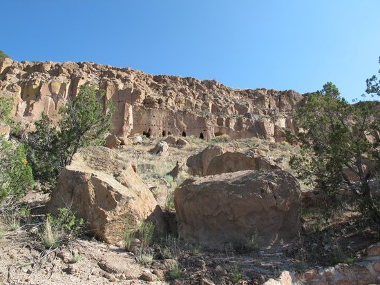 Puye Cliff Dwellings: From the entrance for the tour