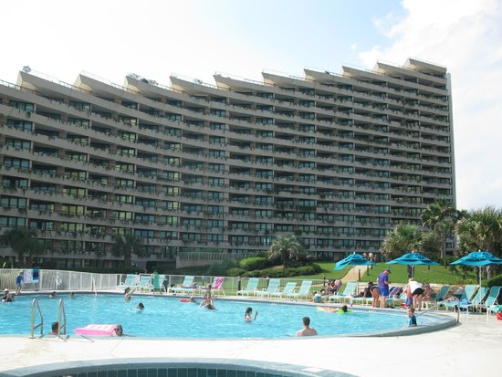 Edgewater Beach Condominium: View of condo from pool area