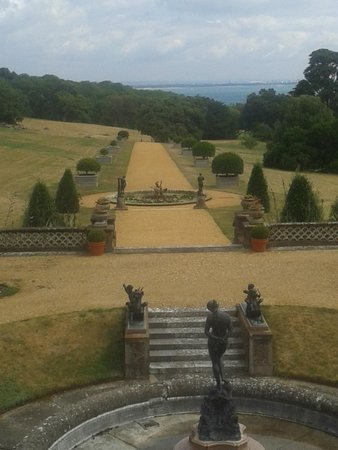 Osborne House: The view down to the beach