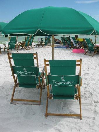 Edgewater Beach Condominium: Beach Umbrella set up