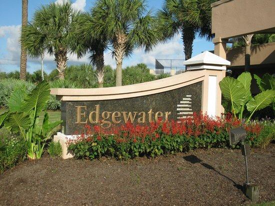 Edgewater Beach Condominium: Sign in front of property