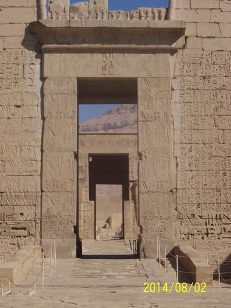 Temple of Medinat Habu: View through the temple
