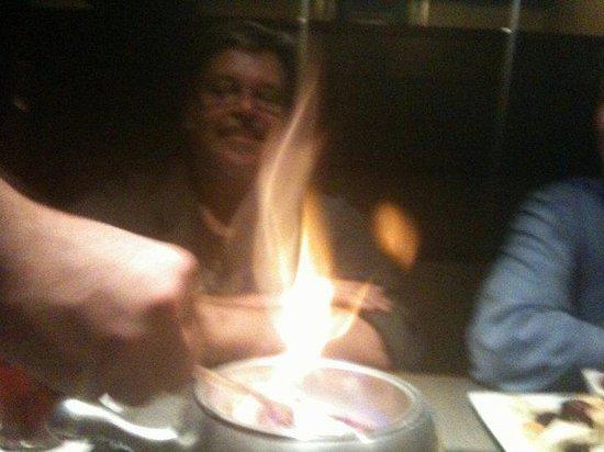 The Melting Pot - Albuquerque: Fun Festive Flambe starts off the night