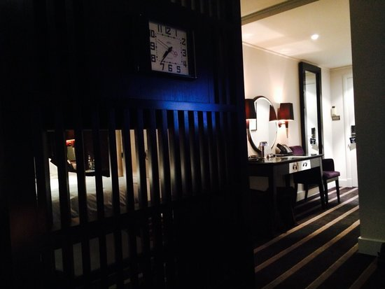 Malmaison Newcastle: View to the bedroom from the sitting area