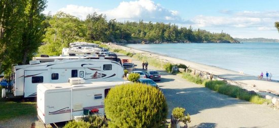 Weir's Beach RV Resort: Ocean front sites