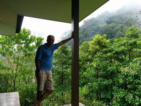 El Silencio Lodge & Spa: front porch overlooks cloud forest