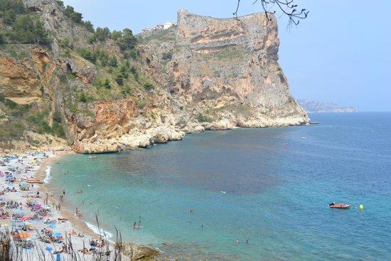 Playa La Granadella: vu de la plage
