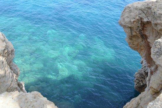 Playa La Granadella: couleur de l'eau
