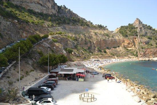 Playa La Granadella: vu à l'arrivée sur la plage