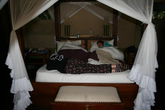Mara Intrepids Luxury Tented Camp : us snoozing in our tent