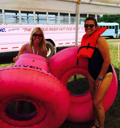 Delaware River Tubing: Marg and Lisa