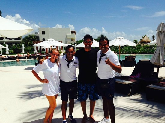 Secrets Maroma Beach Riviera Cancun: Mexican Chocolate and Ferminator hilarious guys great entertainers
