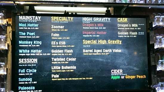 New Holland Brewing Company: Today's specials.��