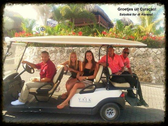 Van der Valk Kontiki Beach Resort: Samen met het  vervoersmiddel en het leuke personeel!